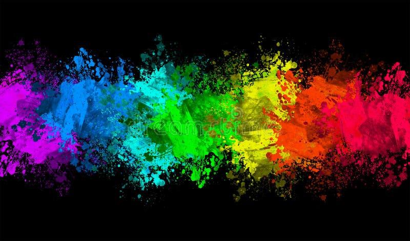 Kolorowy splat royalty ilustracja
