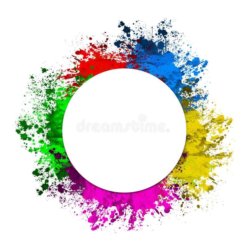 Kolorowy splat wokoło kurendy przestrzeni ilustracja wektor