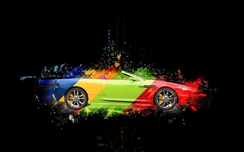 Kolorowy sporta samochód ilustracji