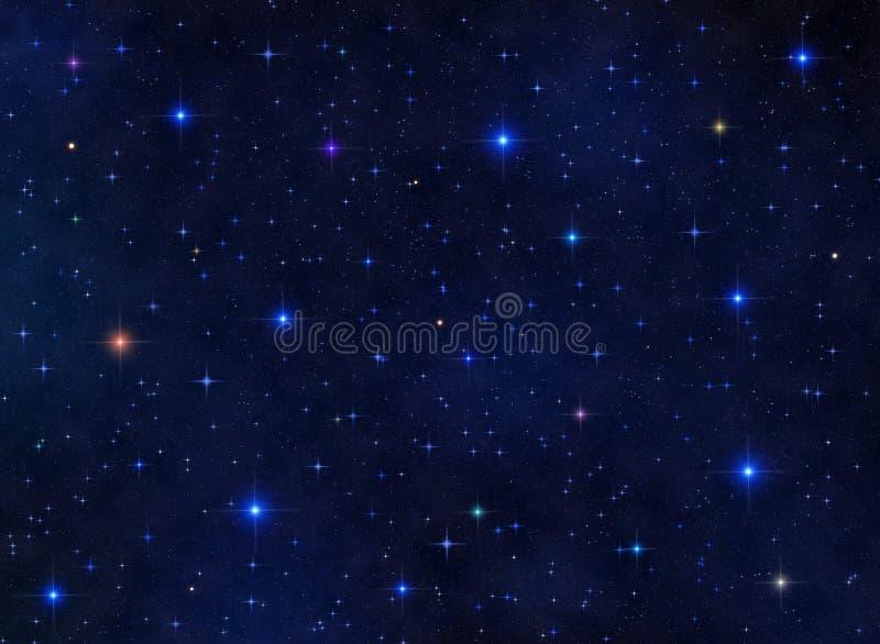 kolorowy starfield ilustracja wektor