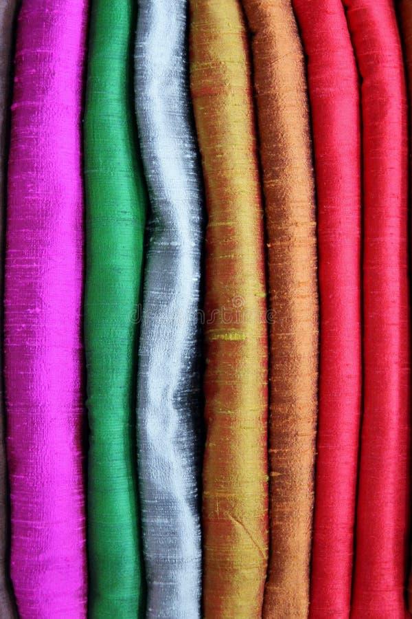Kolorowy Surowy jedwab zdjęcia royalty free