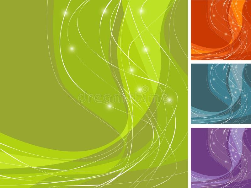 kolorowy swoosh tła royalty ilustracja
