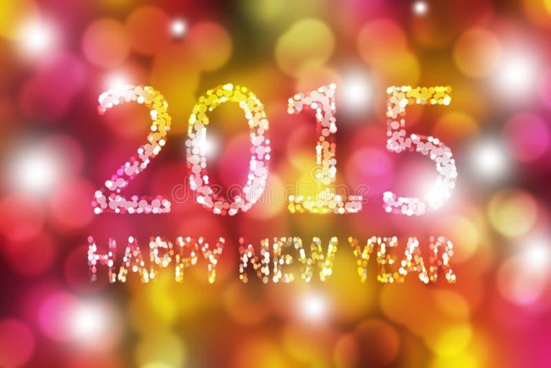 Kolorowy Szczęśliwy nowego roku abstrakta tło ilustracja wektor