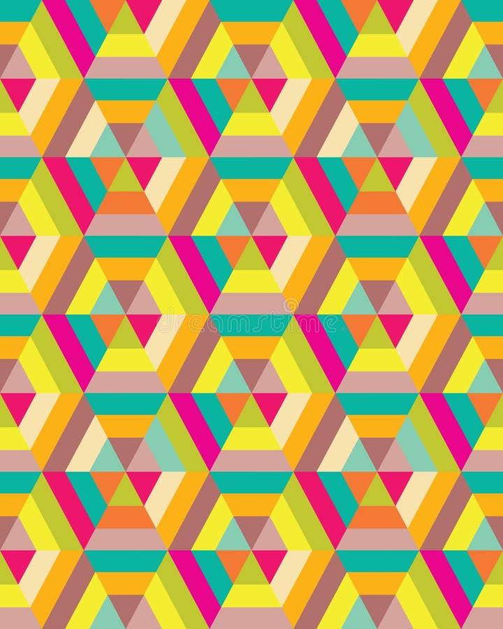 Kolorowy sześciokąt bezszwowy ilustracja wektor
