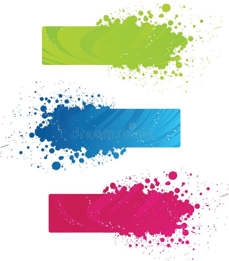 kolorowy sztandaru grunge ilustracja wektor