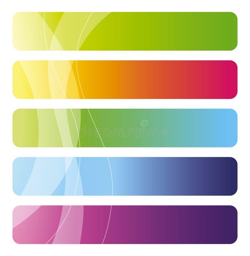kolorowy sztandaru set ilustracji