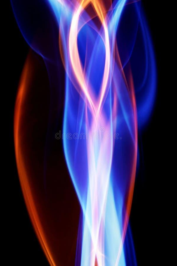 Kolorowy tęcza dym obrazy stock