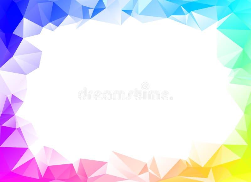 Kolorowy tęcza wieloboka tło lub wektor ilustracja wektor