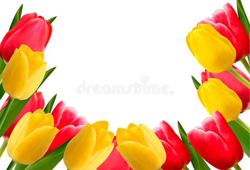 kolorowy tło kwiat royalty ilustracja