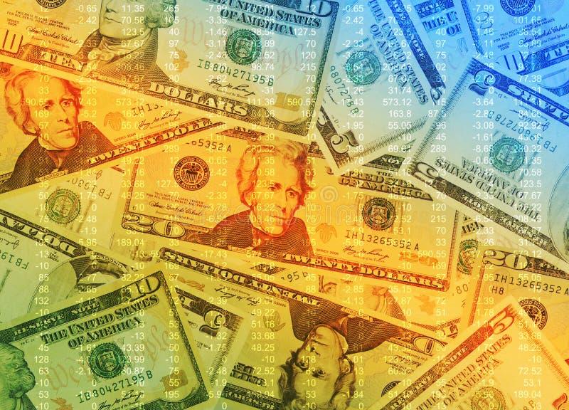kolorowy tło pieniądze zdjęcie royalty free