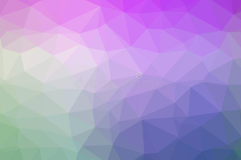 Kolorowy tło poli- trójbok depresja zdjęcia stock