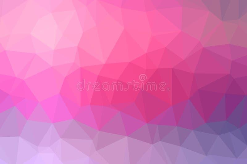 Kolorowy tło poli- trójbok depresja zdjęcie stock