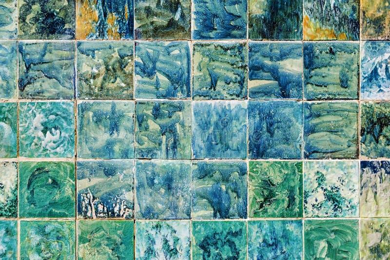 Kolorowy tło stare płytki zdjęcie royalty free