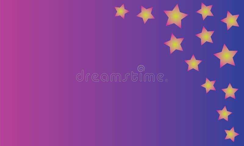 Kolorowy tło z jaskrawymi gwiazdami royalty ilustracja