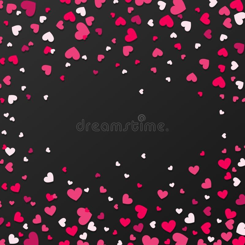 Kolorowy tło z Kierowymi confetti Walentynka dnia kartka z pozdrowieniami lub ślubny zaproszenia tła przyjęcia projekt ilustracja wektor