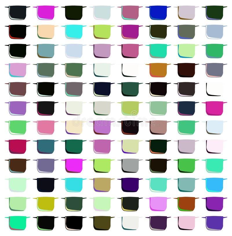 Kolorowy tło z stylizowanymi garnkami ilustracja wektor