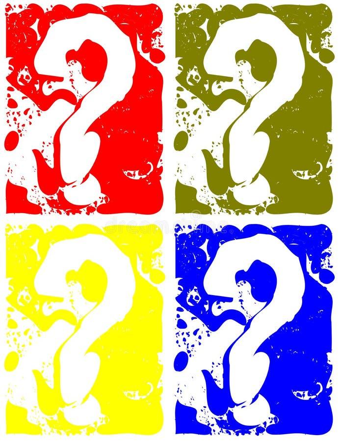 Kolorowy tło z znakami zapytania ilustracji