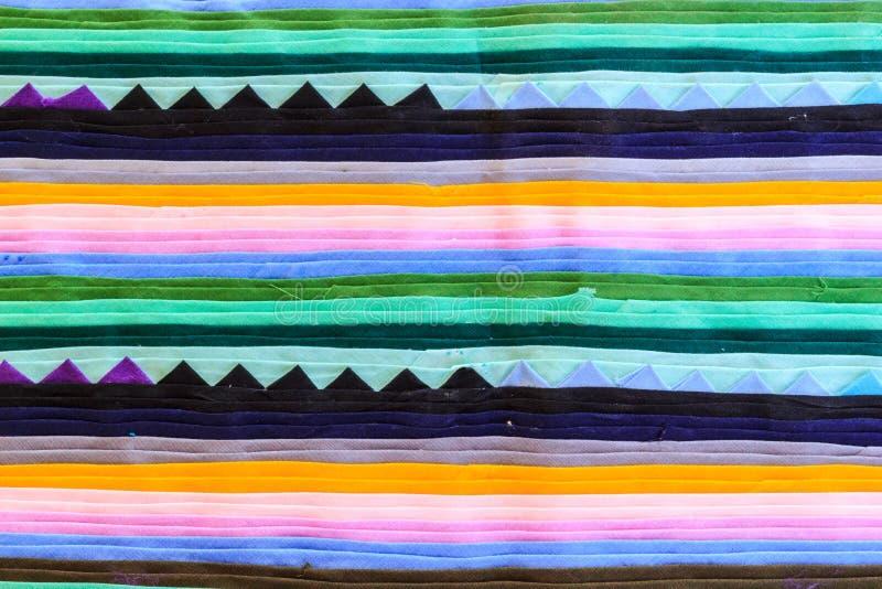 Kolorowy Tajlandia stylu dywanika powierzchni zakończenie up obrazy royalty free
