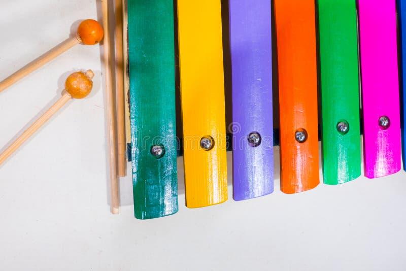 Kolorowy Tajlandzki tradycyjny ksylofon fotografia royalty free