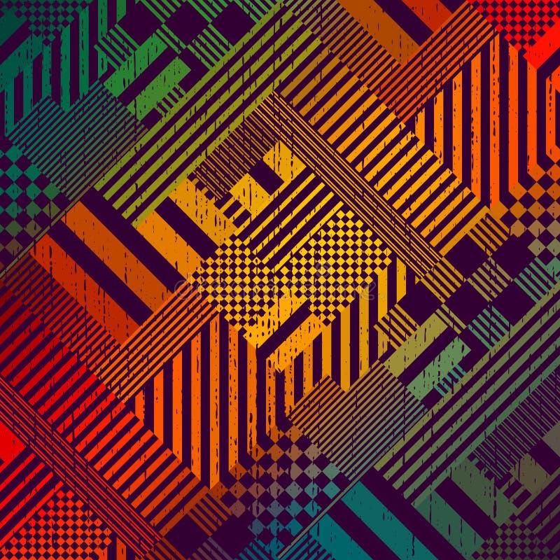 Kolorowy technika wzór ilustracja wektor