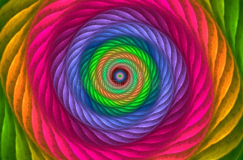 Kolorowy textured ślimakowaty vortex Abstrakcjonistyczny stubarwny tło royalty ilustracja