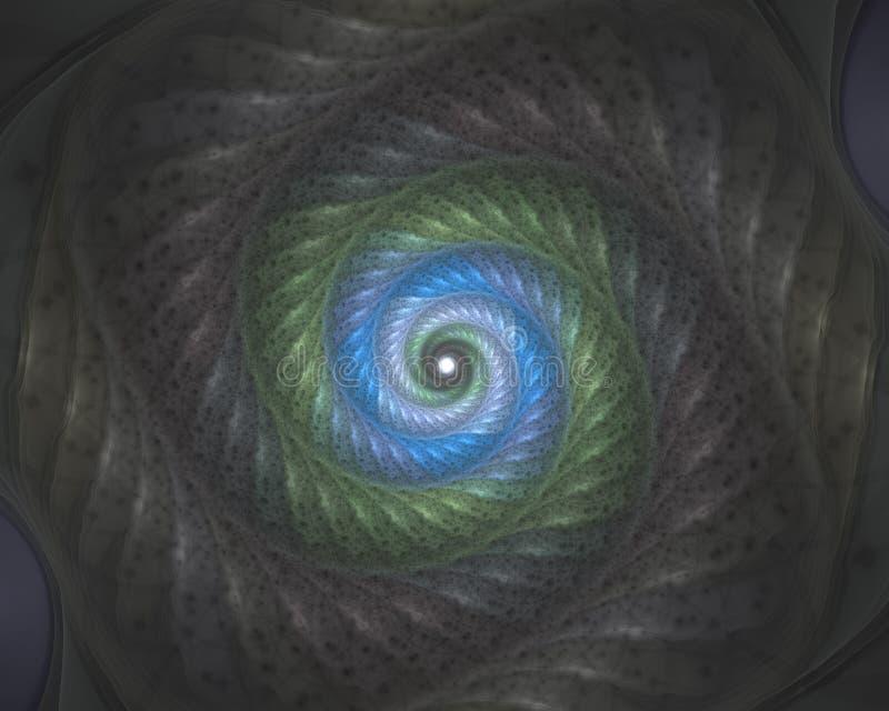 Kolorowy textured ?limakowaty vortex Abstrakcjonistyczny stubarwny t?o ilustracja wektor