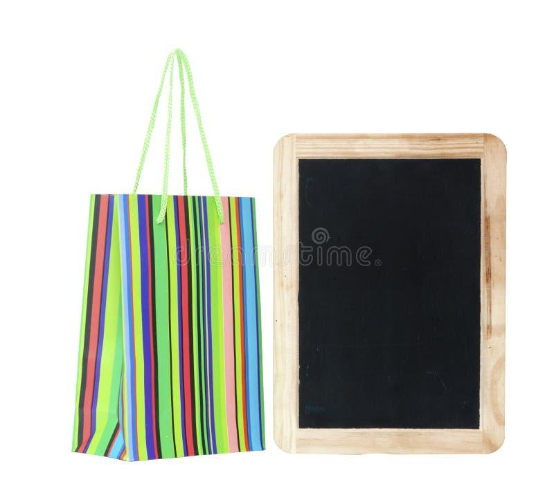 Kolorowy torba na zakupy obraz stock