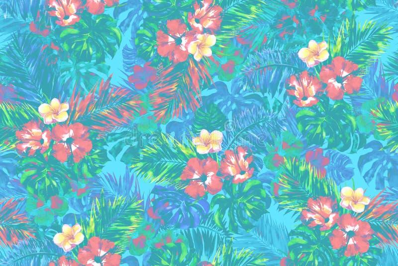 Kolorowy tropikalny deseniowy bezszwowy tło obrazy stock