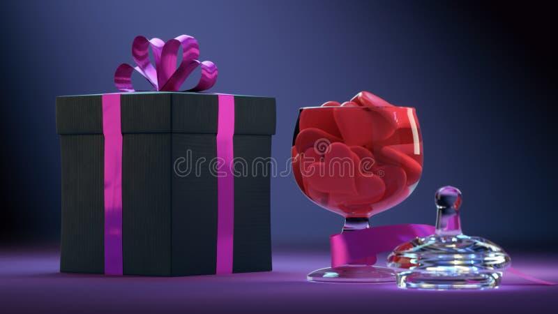 Kolorowy Valentine&-x27; s dzień obraz stock