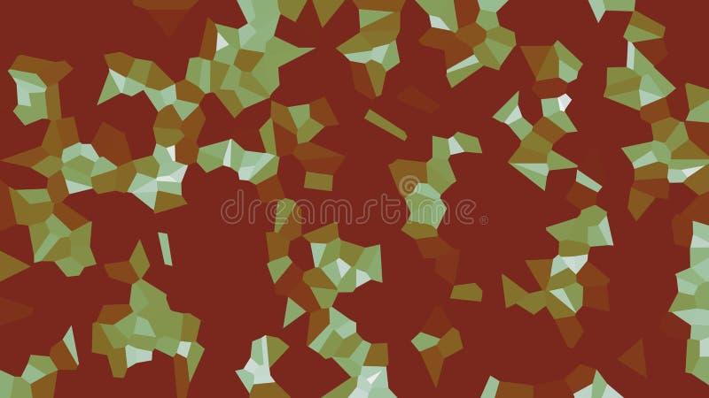Kolorowy voronoi, wektorowy abstrakt Bezszwowy nieregularny linii mozaiki wzór geometryczna siatka royalty ilustracja