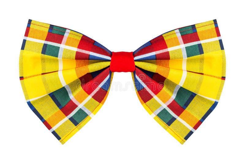 Kolorowy w kratkę łęku krawat zdjęcia royalty free