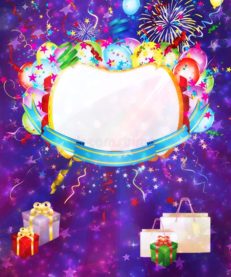 Kolorowy wakacyjny tło royalty ilustracja