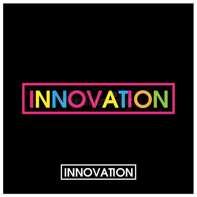 Kolorowy wektor pisze list ikonę słowa inovation wektor ilustracja wektor