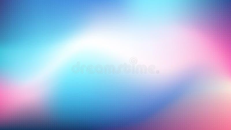 Kolorowy wektorowy abstrakcjonistyczny gradientowy tło z kropka barwiącym ruchu gradientem royalty ilustracja