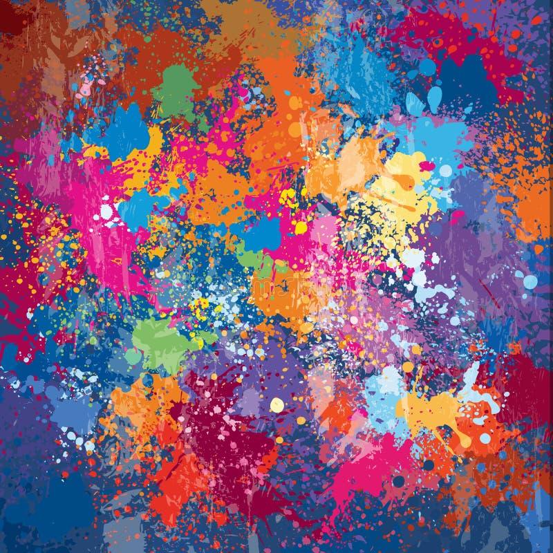 Kolorowy wektorowy Grunge tło ilustracji