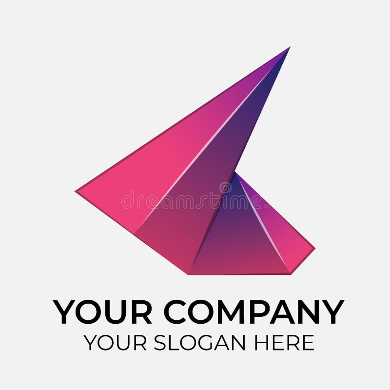 Kolorowy Wektorowy logo projekt ilustracji
