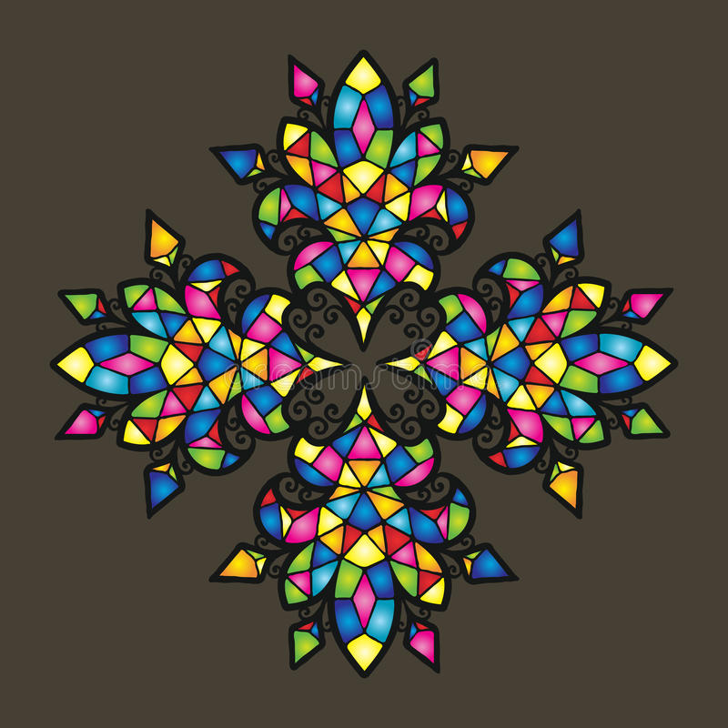 Kolorowy wektorowy mozaiki tło royalty ilustracja