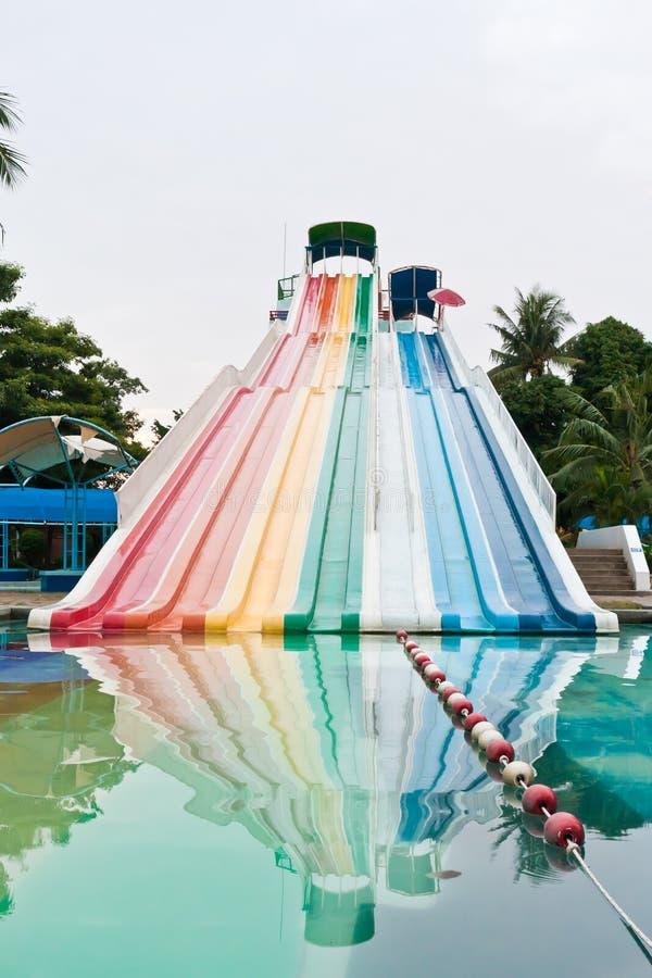 Kolorowy wodny suwak zdjęcia stock