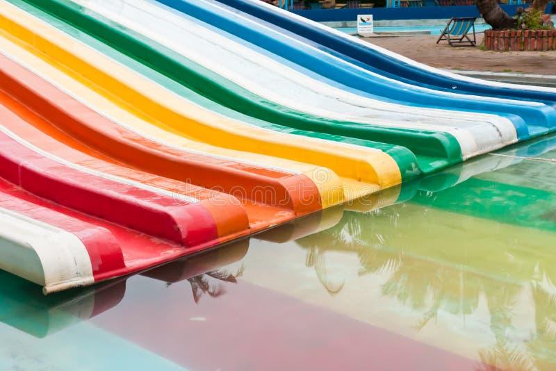 Kolorowy wodny suwak obrazy stock