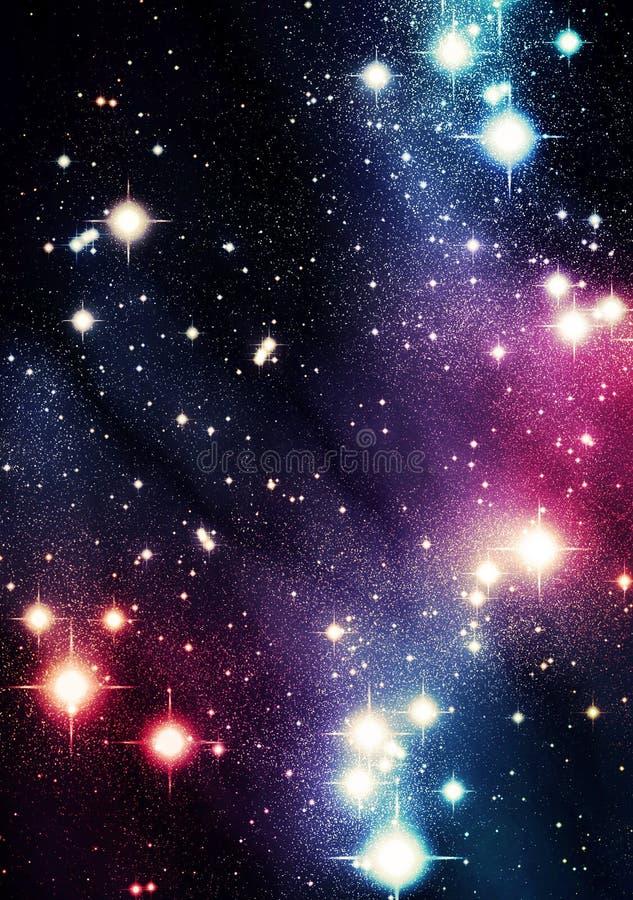 Kolorowy wszechświat royalty ilustracja