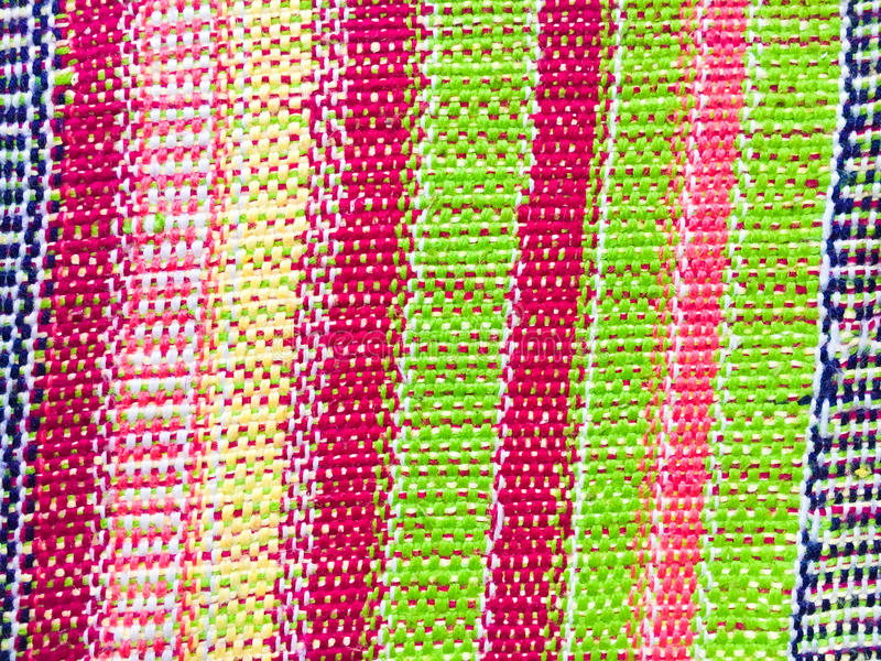 Kolorowy wyplatający dywanik zdjęcie royalty free