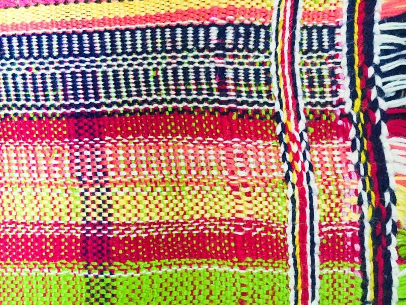 Kolorowy wyplatający dywanik zdjęcia stock