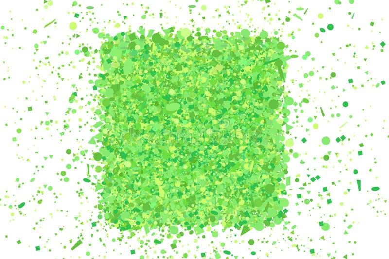 Kolorowy wzór dla projekta Kwadrat czochrający kształt Geometryczny tło z confetti na odosobnionym bielu Tło z ilustracji