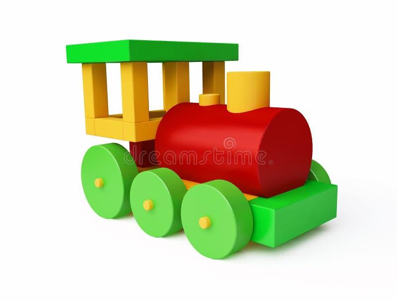 Kolorowy zabawka pociąg ilustracji