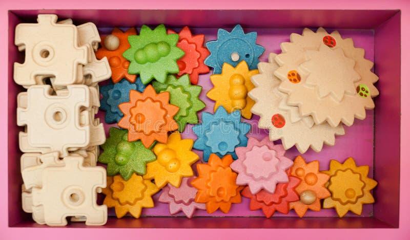kolorowy zabawkarski drewniany obraz stock