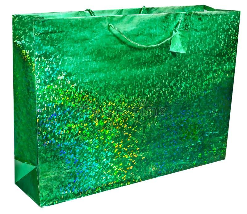 Kolorowy zieleni folii torba na zakupy royalty ilustracja
