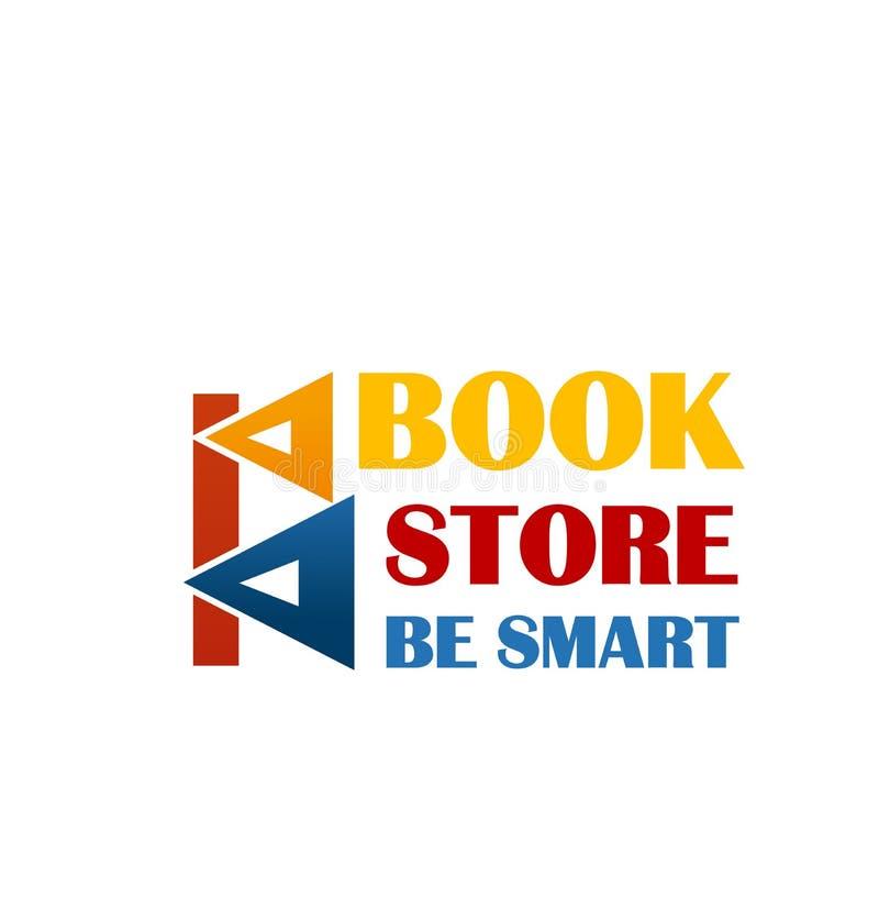 Kolorowy znak dla książka rynku ilustracji