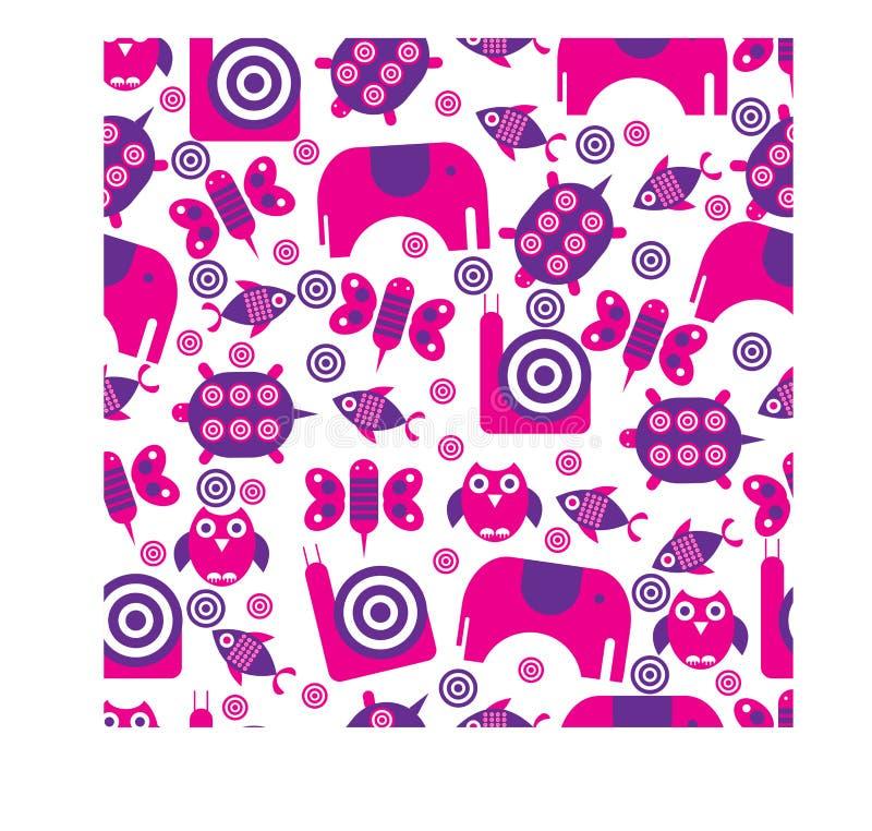 Kolorowy zwierzęcy płaski tło projekt ilustracji