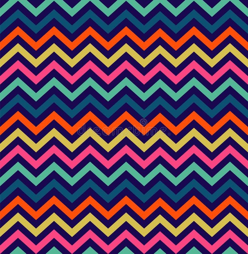 Kolorowy zygzakowaty bezszwowy wzór royalty ilustracja