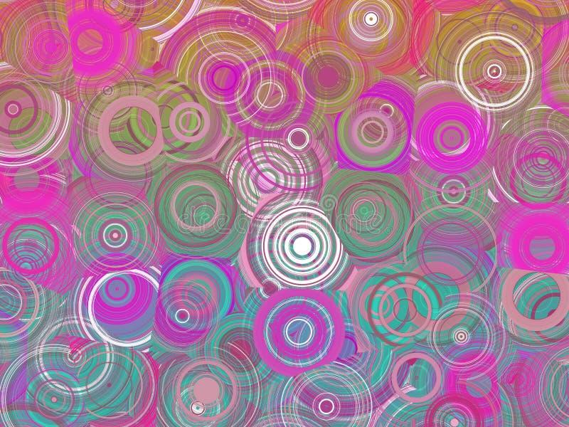 Kolorowych Abstrakcjonistycznych Geometrycznych okregów Deseniowa ilustracja obraz stock
